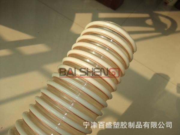 厂家供应工业真空吸尘加固管PU塑筋增强管