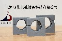 灰色波纹管固定座,灰色软管固定支架,带盖固定支架