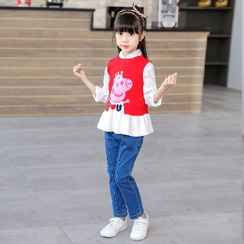 孩童衣服毛线衣二一年新品童装代销毛线衫批售拿货一首工厂货源