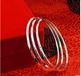 银饰批发990纯银手镯韩版时尚足银手圈简约女银手圈手环