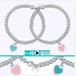 欧美s925纯银圆珠手链串珠珐琅桃心爱心形女银饰品同款佛珠手链