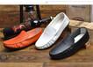 新款休闲豆豆鞋懒人鞋.....套脚韩版男鞋纯色时尚皮鞋一件代发