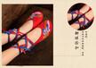 族韵绣花鞋民族风绑带内增高广场舞蹈鞋女鞋厂家直销一件代发