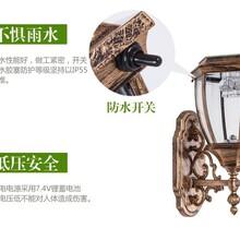 扬州弘旭直销欧式现代太阳能壁灯户外LED太阳能灯庭院灯图片