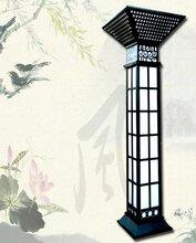 扬州弘旭销售3米室外园林景观灯柱方灯户外欧式别墅防水庭院灯图片