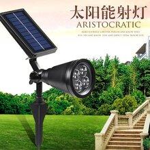 扬州弘旭生产太阳能射灯地插灯庭院灯户外灯图片