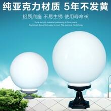 扬州弘旭生产户外墙头灯柱头灯灯亚克力球形灯图片