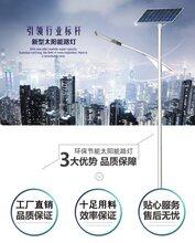 扬州弘旭直销4米12WLED新农村太阳能路灯市电互补图片