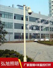 扬州弘旭生产监控杆销售4米镀锌监控杆
