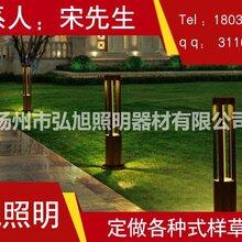 扬州弘旭销售5W户外LED简约现代草坪灯庭院灯草地灯图片
