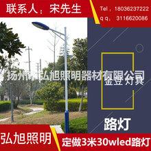 扬州弘旭照明公司专业生产3米30W.LED路灯户外道路灯图片