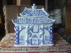 供应批发青花瓷十字架陶瓷骨灰盒,景德镇高档陶瓷骨灰盒厂家