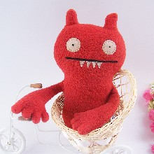 佛山厂家毛绒玩具加工厂创意玩具红色水怪玩偶订做吉祥物设计