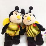 幼儿园玩具厂加工毛绒玩具小蜜蜂玩偶精品小挂件毛绒玩具批发