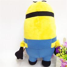 厂家定做卡通毛绒玩具厂神偷奶爸3D小黄人毛绒玩具个性抱枕批发