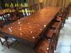 厂家直销实木家具黑檀实木家具办公桌茶盘茶桌