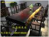 奥坎大板桌原木实木茶桌餐桌整木板办公会议桌红木书桌画案大班台