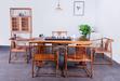 龍巖實木大板茶桌黑檀大板桌辦公桌新中式家具