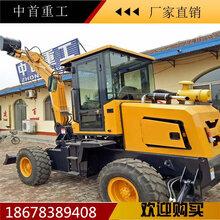 赣州轮式挖掘机装载机铺水管用轮式挖机图片