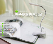广东辰瑞批发高质量多功能夹子灯折叠携带护眼LED台灯图片