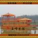 厂家热销贵州遵义大型画舫船/电动观光船/餐饮游船16米双层旅游木船