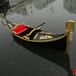 厂家出售精美木质玻璃钢贡多拉船/欧式手划船/观光装饰可定制