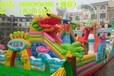 陕西儿童游乐设备充气城堡充气滑梯加网加厚pvc材料