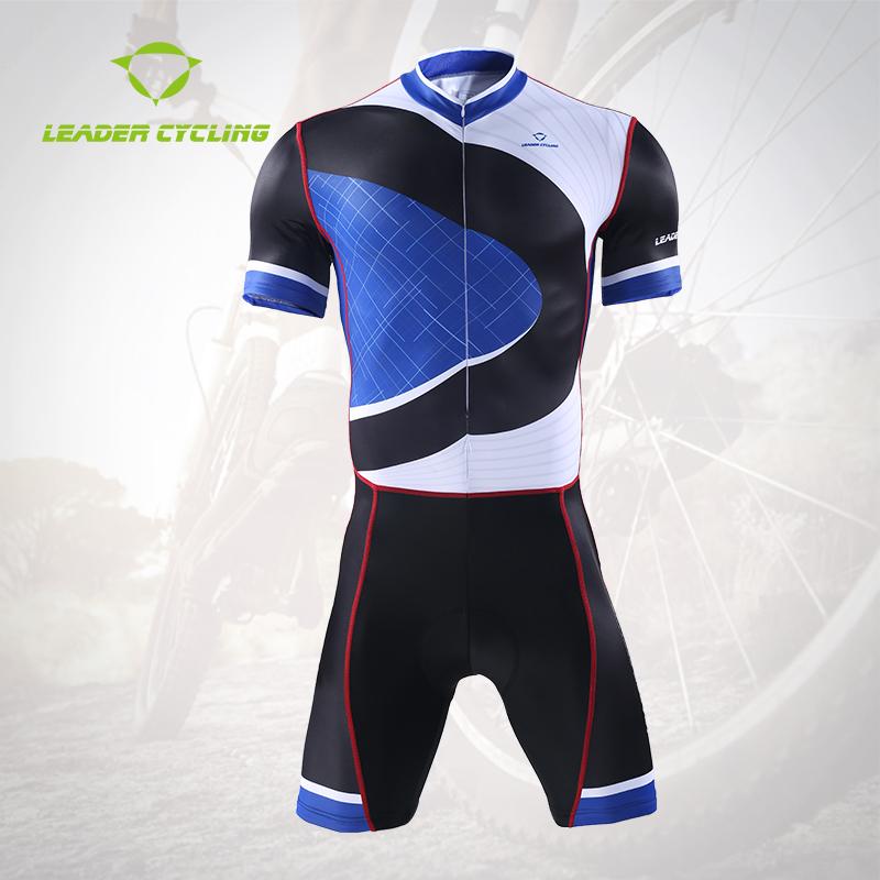 夏季户外骑行短袖连体服自行车衣服骑行服套装骑行短裤连体衣