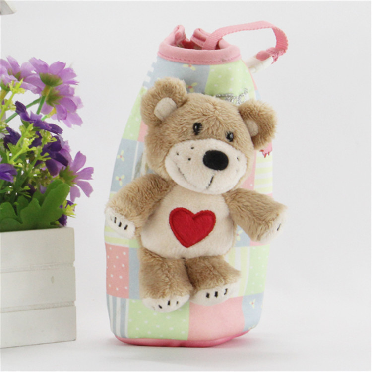 广东毛绒玩具厂萌萌哒创意笔袋加站姿小熊公仔送孩子的小礼物