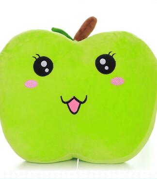 【抱枕卡通款表情青苹果大号创意居家表情必备微信植物动画坐垫图片