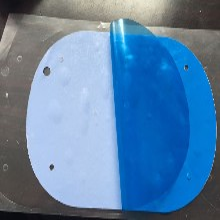 厂家出售3瓦导热软硅胶片3W散热硅胶软片蓝色高温导热硅胶片