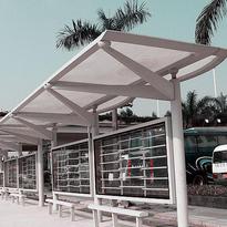 2016新款耐力板停车棚阳光板停车棚选卓尼品牌别墅小区厂房车棚