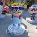 玻璃钢厂家批发卡通人物雕塑大型户外商场雕塑摆件制作深圳玻璃钢厂家