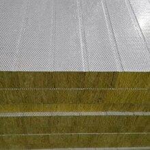 彩钢岩棉板、彩钢防火岩棉板厂家面向北京地区直销-彩钢板防火、保温、防水效果好图片
