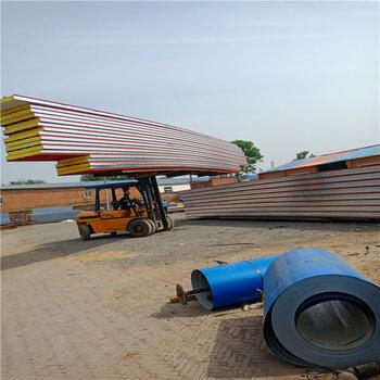 防水彩鋼板、保溫彩鋼板-防水保溫一體巖棉夾芯板房山廠家批發