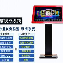镭视卡拉OK家庭KTV双系统点歌机超薄玫瑰金触摸屏