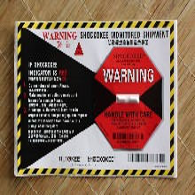 家具專用50G防震動標簽進口防震動指示標貼物流運輸檢測器