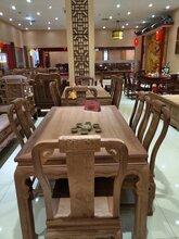 东阳红木家具市场/红木厂家/红木家具龙腾西餐桌在花园红木展销会上获得银奖图片