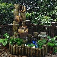惠州地区水景雨花石、假山石、水景黄腊石、假山英石批发及假山工程图片