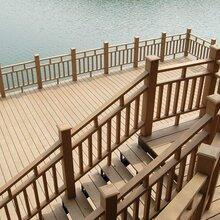 供应惠州地区复合塑木地板PE户外塑木地板惠州看来周边二代塑木地板安装施工图片