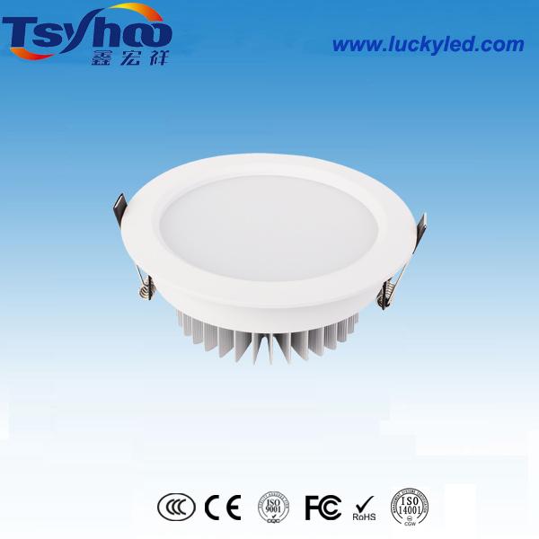 厂家直销开孔185mm7寸LED筒灯高档家居防雾筒灯