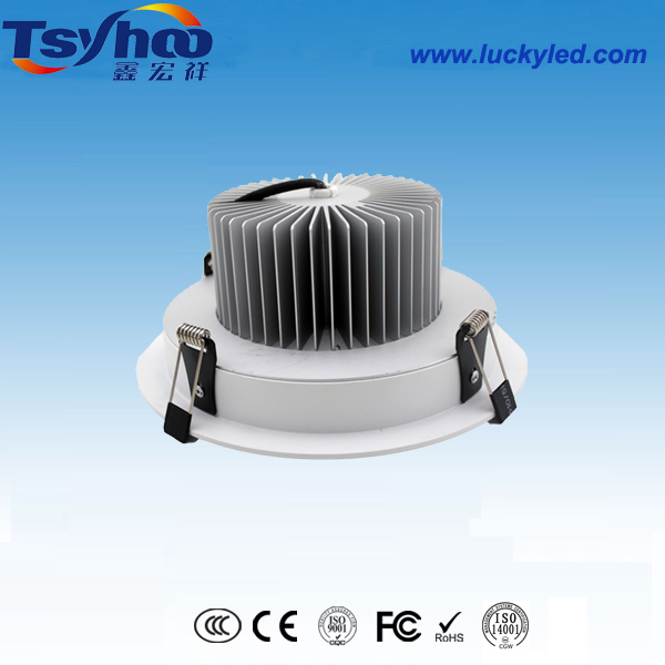 鳍片式高散热LED筒灯,深圳高品质LED筒灯制造商,LED节能筒灯