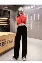 19年爆款網紅拖地闊腿褲長腿神器女裝批發品牌女裝批發直播貨源圖片