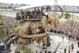 机械大象巡游展览走动机械大象出租租赁制作