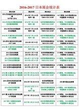 2016-2017日本展会计划表