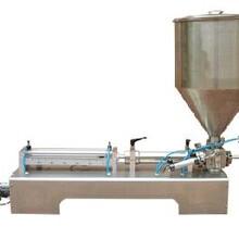半自动活塞式灌装机酱料灌装液体灌装颗粒灌装机半自动灌装机图片