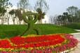 五色草运动造型园艺作品