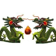 二龙戏珠五色草造型