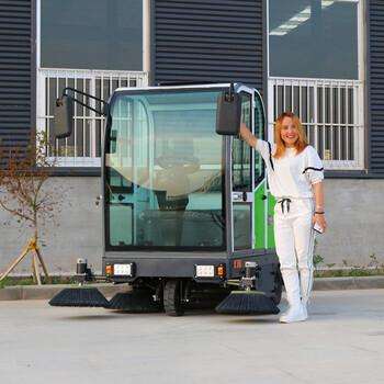 逐新ZHUXIN駕駛式掃地機道路清掃車小區物業工廠掃地機
