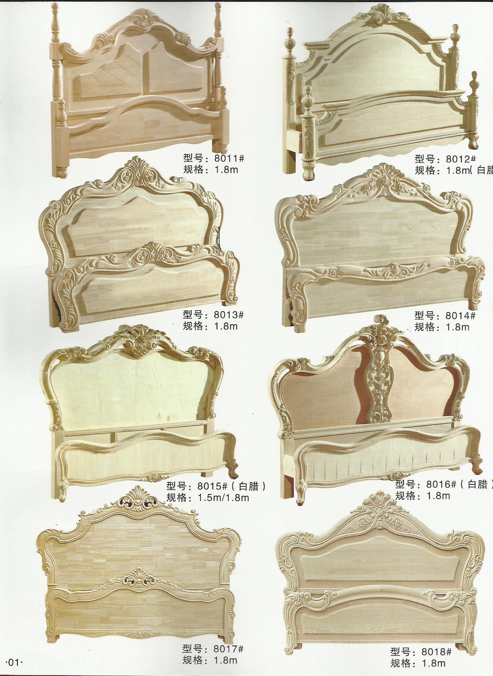 欧式实木家具代理 白坯家具
